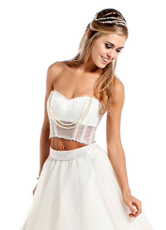 Vestidos de 15 blancos modernos