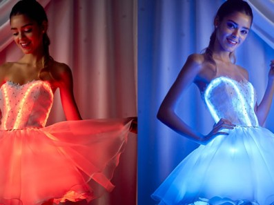 Vestidos de 15 luminosos con Leds