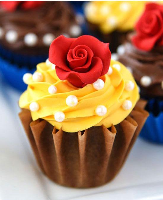 Cupcake La Bella y la Bestia