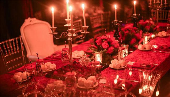Fiesta Temática La Bella y la Bestia mesa principal
