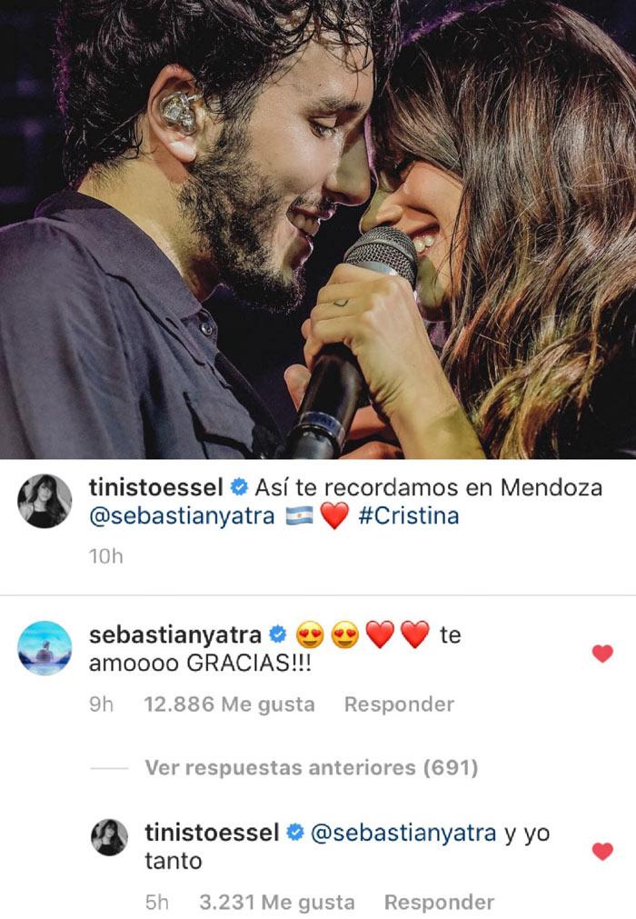 Tini y Sebastian confirman romance amor te amo