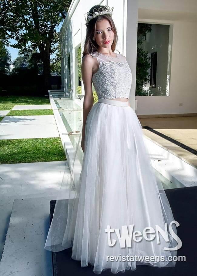 Hermoso vestido de 15 blanco