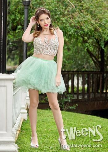 Vestidos De 15 Color Verde Y Aguamarina Revista Tweens