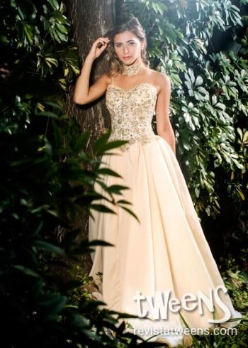 b388c4c30b Vestidos de 15 color Dorado y Champagne - Revista Tweens