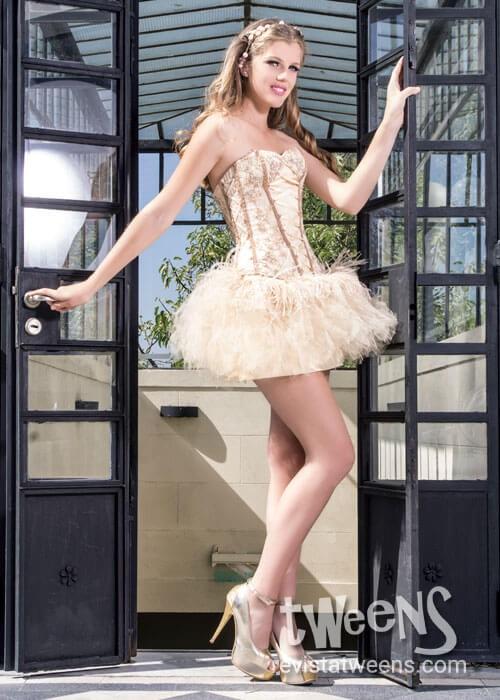 Vestido De 15 Color Champagne Leo Boggia Alta Costura