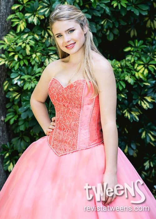 4552eea865 Vestido de 15 años rosado salmón - Vestidos Led by Diseños ...