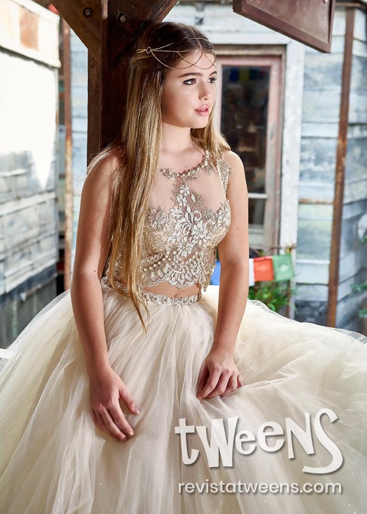 Vestido De 15 Champagne Con Dorado Lindissima Vestidos De