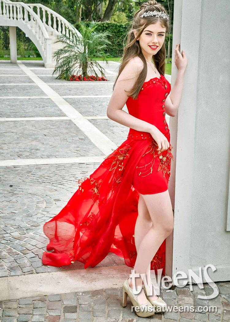 Vestidos de 15 rojo y dorado