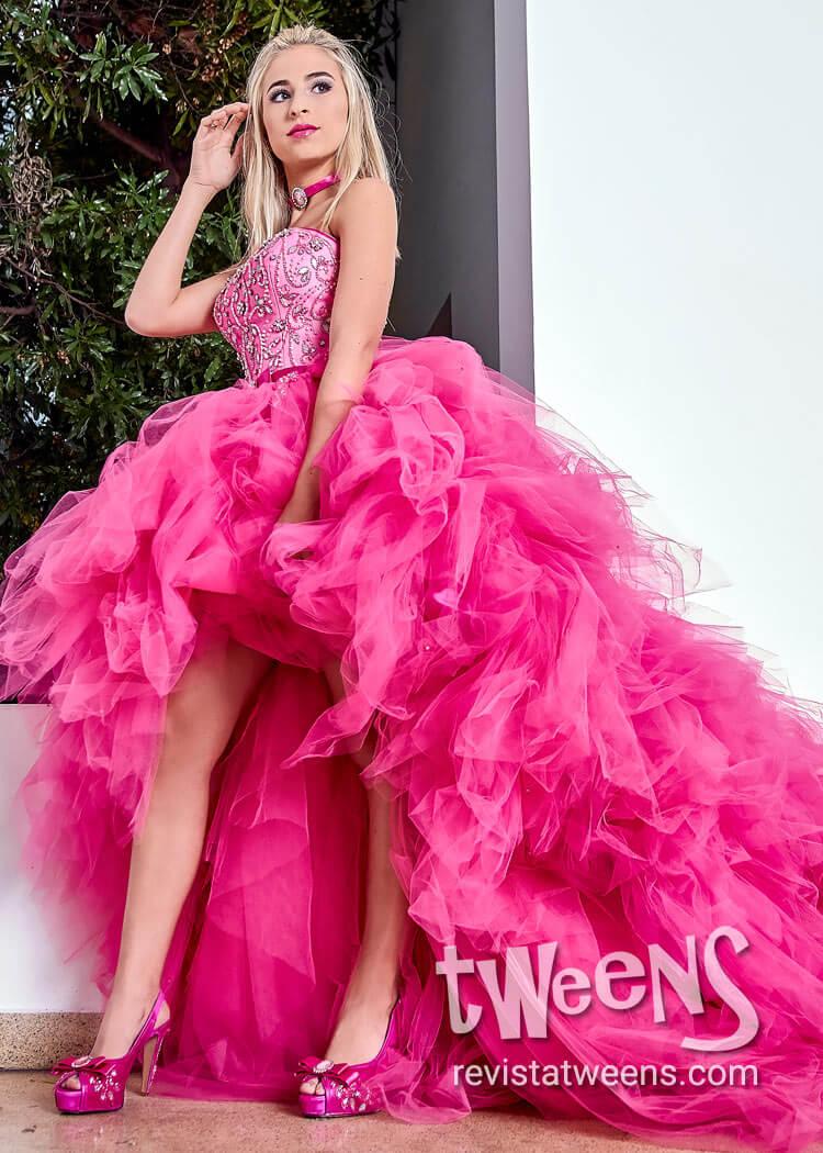 88a07c854 Vestido de 15 años fucsia tul - Perea Design - Vestidos de 15 ...