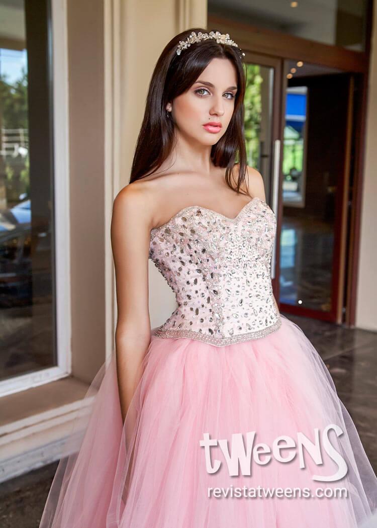 f4ed4ce2d7 Hermoso Vestido de 15 años rosa - Carolina Rossi Alta Costura ...